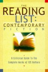 The Reading List: Contemporary Fiction: A Critical Guide to the Complete Works of 125 Authors - David Rubel