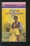 Not Part of the Bargain (Harlequin Romance, #2983) - Susan Fox