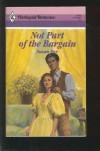 Not Part of the Bargain (Harlequin Romance, #2983) - Susan Fox