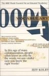 Vocabulary 4000: The 4000 Words Essential for an Educated Vocabulary - Jeff Kolby