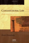 Constitutional Law: Principles and Policies (Aspen Treatise Series) - Erwin Chemerinsky
