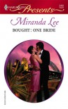 Bought: One Bride - Miranda Lee