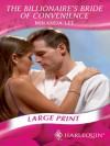 The Billionaire's Bride Of Convenience (Romance Large Print) - Miranda Lee