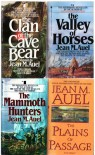 The Clan of the Cave Bear, the Valley of Horses, the Mammoth Hunters, the Plains of Passage - Jean M. Auel