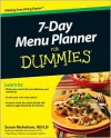 7-Day Menu Planner for Dummies - Susan Nicholson