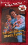 Boone's Bounty (Three Cowboys & A Baby, #3) - Vicki Lewis Thompson
