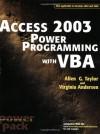 Access2003 Power Programming with VBA - Allen G. Taylor, Virginia Andersen