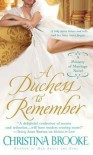 A Duchess to Remember  - Christina Brooke