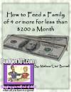 "How to Feed a Family of 4 or More for Less than $200 a Month - Melissa ""Liss""  Burnell"