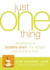 Just One Thing: Developing a Buddha Brain One Simple Practice at a Time - Rick Hanson