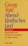 Abendländisches Lied. - Georg Trakl