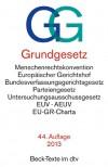 Grundgesetz GG: mit Menschenrechtskonvention, Verfahrensordnung des Europäischen Gerichtshofs für Menschenrechte, Bundesverfassungsgerichtsgesetz, ... Union, Rechtsstand: 1. September 2012 -
