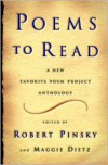 Poems to Read: A New Favorite Poem Project Anthology - Robert Pinsky