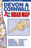 Devon and Cornwall Road Map - Geographers' A-Z Map Company