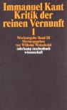 Kritik der reinen Vernunft, 2 Bde: Werkausgabe, Bd. 3-4 - Immanuel Kant