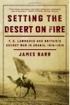 Setting the Desert on Fire: T. E. Lawrence and Britain's Secret War in Arabia, 1916-1918 - James Barr