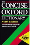 The Concise Oxford Dictionary of Current English -