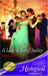 A Lady of Rare Quality - Anne Ashley