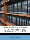 Pisma: Stary Sługa. Hania. Szkice Weglem. Janko Muzykant. Wyd. 3. 1884 - Henryk Sienkiewicz