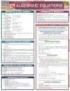 Algebraic Equations Laminate Reference Chart - Inc. BarCharts