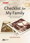 ABA/AARP Checklist for My Family: A Guide to My History, Financial Plans and Final Wishes - Sally Balch Hurme