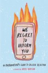 We Regret to Inform You - Ariel Kaplan