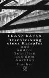 Beschreibung Eines Kampfes - Franz Kafka