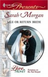 Sale Or Return Bride (Harlequin Presents) - Sarah Morgan