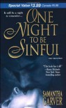 One Night To Be Sinful - Samantha Garver