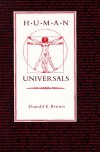Human Universals (Paperback) - Donald E. Brown