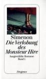 Die Verlobung des Monsieur Hire - Georges Simenon