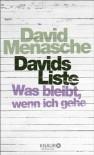 Davids Liste: Was bleibt, wenn ich gehe - David Menasche