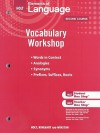 Holt Elements of Language, Second Course: Vocabulary Workshop - Holt Rinehart