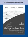 The College Keyboarding and Document Processing - Scot Ober