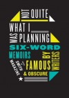 Not Quite What I Was Planning: Six-Word Memoirs by Writers Famous and Obscure - Larry Smith, Rachel Fershleiser