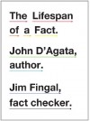 The Lifespan of a Fact - John D'Agata, Jim Fingal