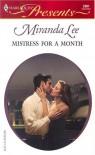 Mistress For A Month   Three Rich Men (Harlequin Presents) - Miranda Lee