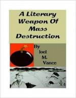 A Literary Weapon of Mass Destruction - Joel Vance