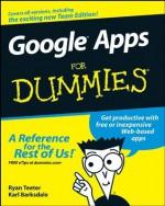 GoogleTM Apps For Dummies® - Ryan Teeter, Karl Barksdale