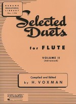 Selected Duets for Flute: Volume 2 - Advanced - H. Voxman