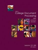 Gregg College Keyboarding & Document Processing (GDP), Lessons 121-180 text (Gregg College Document Processing) - Scot Ober, Jack Johnson, Arlene Zimmerly