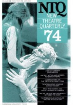 New Theatre Quarterly 74: Volume 19, Part 2 - Clive Barker