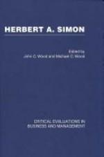 Herbert Simon (3 Volume Set) - John Cunningham Wood, Wood/Wood