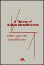 A Theory Of Action Identification - Robin R. Vallacher, Daniel M. Wegner