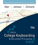 Microsoft Office Word 2010 Manual t/a Gregg College Keyboarding & Document Processing (GDP); Microsoft Office Word 2010 - Scot Ober, Jack Johnson, Arlene Zimmerly