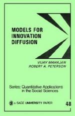 Models for Innovation Diffusion - Vijay Mahajan, Robert A. Peterson