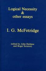 Logical Necessity And Other Essays - Ian G. McFetridge, John Haldane, Roger Scruton