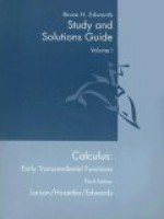 Calculus: Early Transcendental Functions Study and Solutions Guide: Volume I: Chapters P-9 and Appendix a - Bruce H. Edwards, R. Larson, Robert P. Hostetler