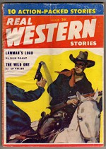 Real Western Stories - August 1958 - Volume 24 Number 2 - Olin Grant, George H. Smith, Lee Thomas, Ed Keller, Rex Whitechurch, Edward Garner, T. R. Young, Sidney Offit, Wallace McKinley, bradley Burr
