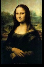 """Mona Lisa Blank Book Journal: 100 pages, 6 x 9"""", lined - NOT A BOOK"""